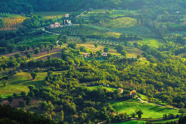 Landscape in Umbria, Italy Scenic view in Italy umbria stock pictures, royalty-free photos & images