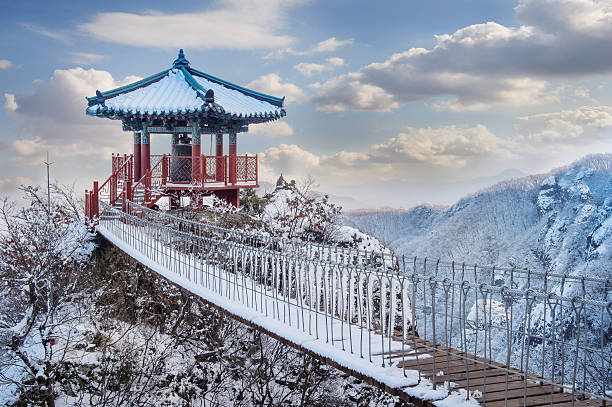Landscape in winter,Seoraksan stock photo