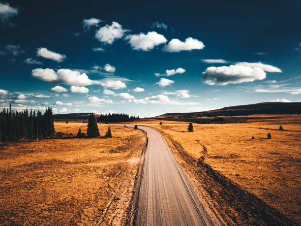landscape in wyoming stock photo