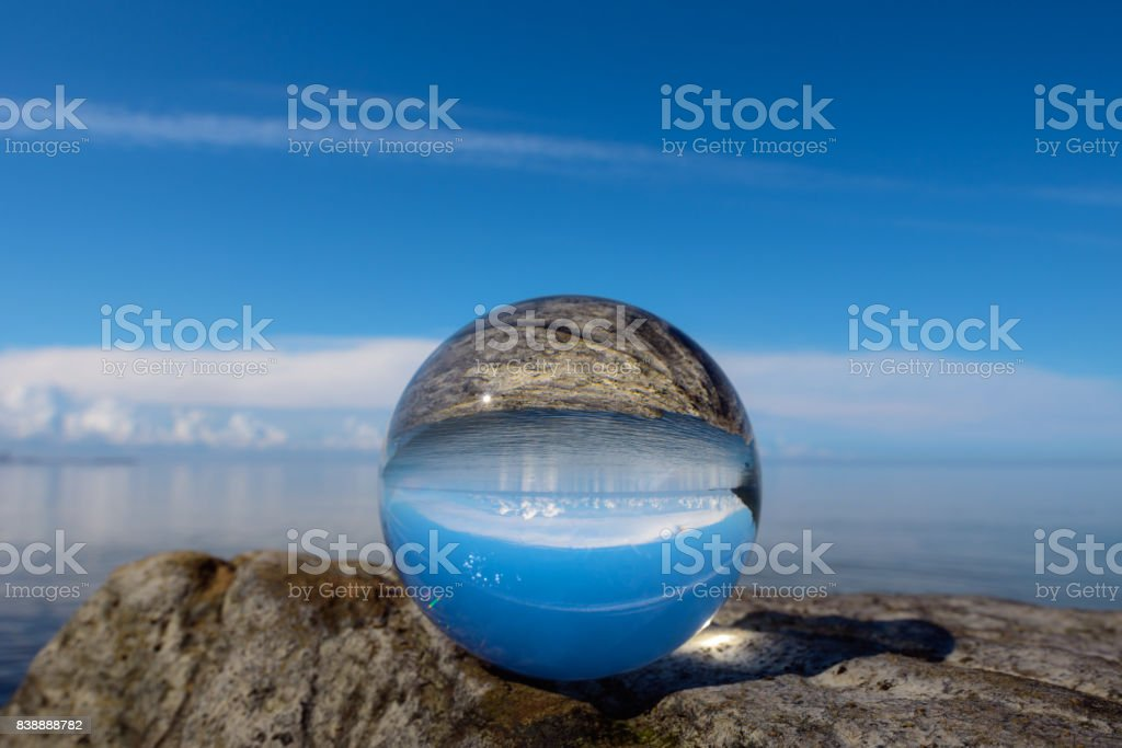 Landscape is reflected stock photo