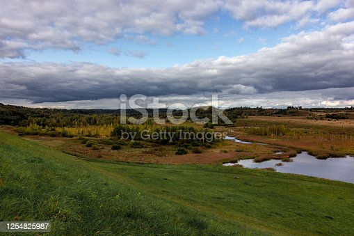 Landscape Malskaya Valley near Izborsk in the Pskov region, Russia