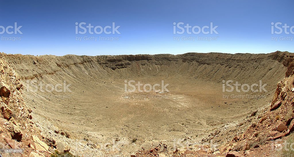 Landscape : Meteor Crater Arizona stock photo
