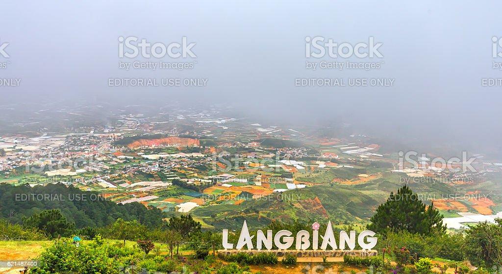 Landscape mount Langbiang photo libre de droits