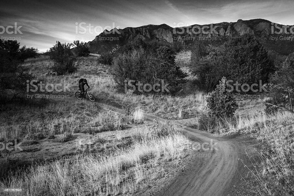 landscape mountain biking royalty-free stock photo