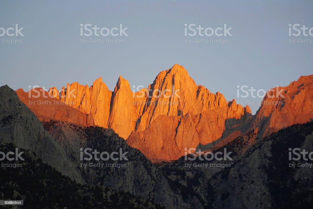 landscape mountain sunrise stock photo