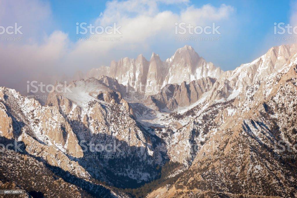 landschap berg Sunrise - Royalty-free Alpengloed Stockfoto