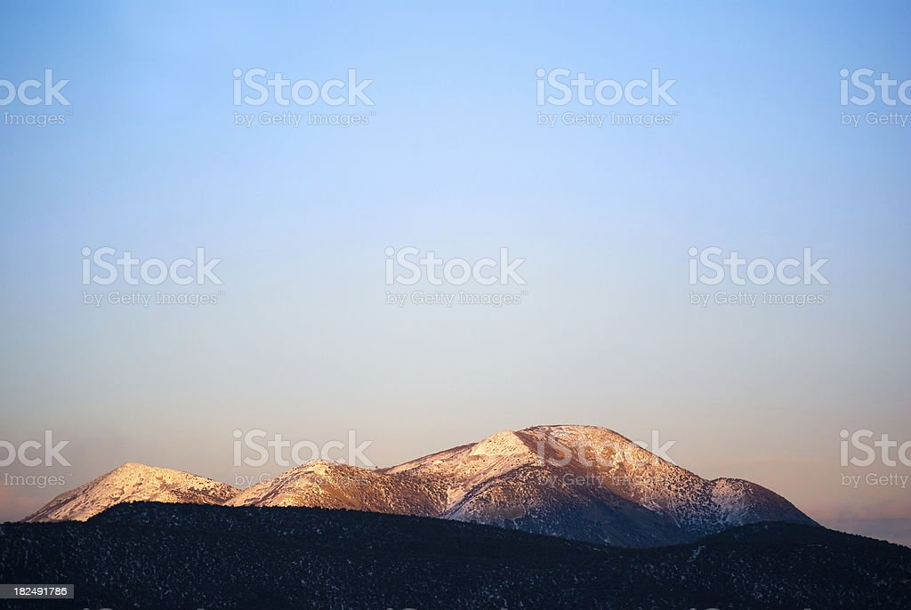landscape mountain sunset sky abstract royalty-free stock photo