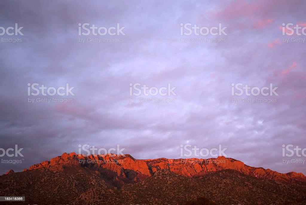 landscape mountain sunset sky stock photo