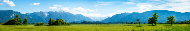 landscape murnauer moos - bavaria landscape murnauer moos - bavaria - germany panoramic stock pictures, royalty-free photos & images