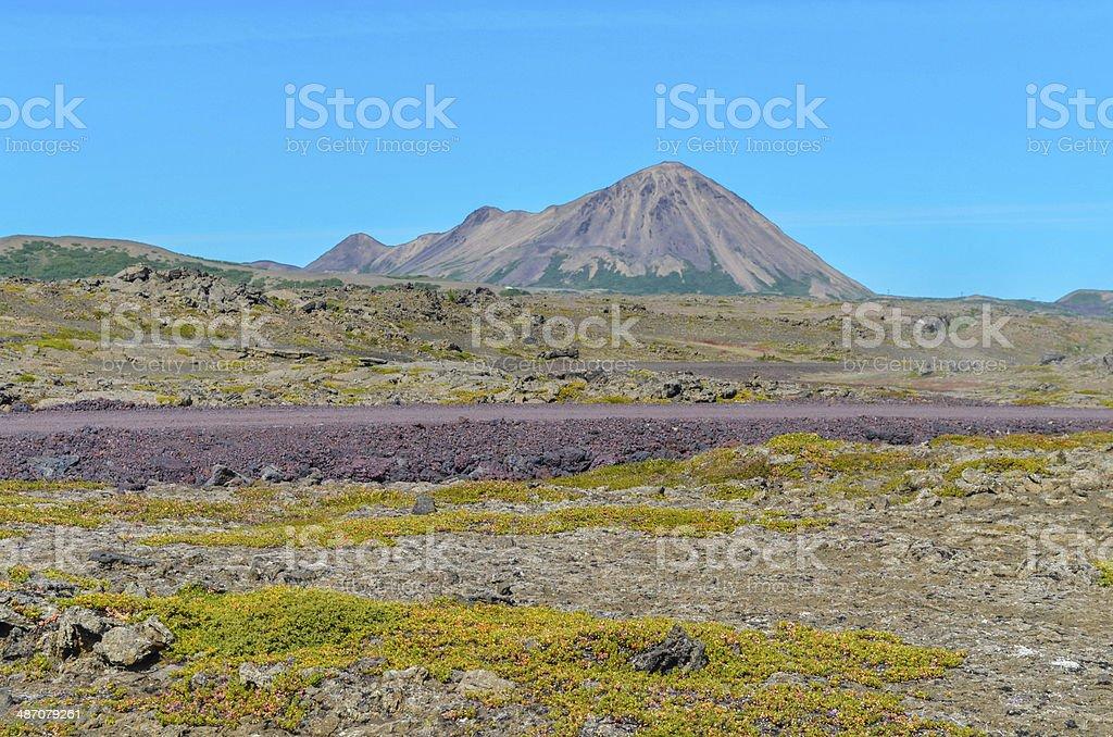 Landscape Myvatn stock photo