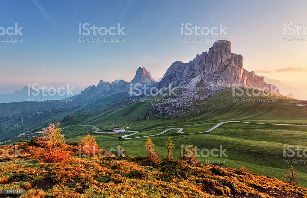 自然の風景に、アルプス mountan ドロミテ、Giau ロイヤリティフリーストックフォト