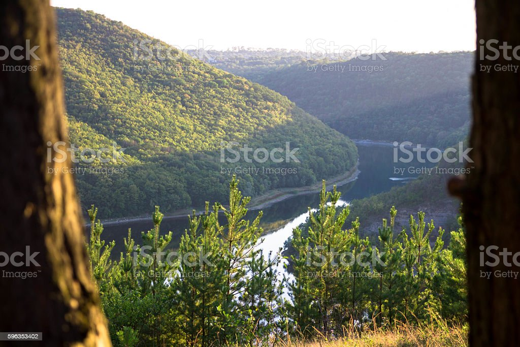 Landscape, nature, river. Shot in the frame. royalty-free stock photo