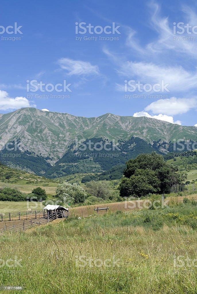 Landscape near Amatrice (Rieti, Lazio, Italy) stock photo