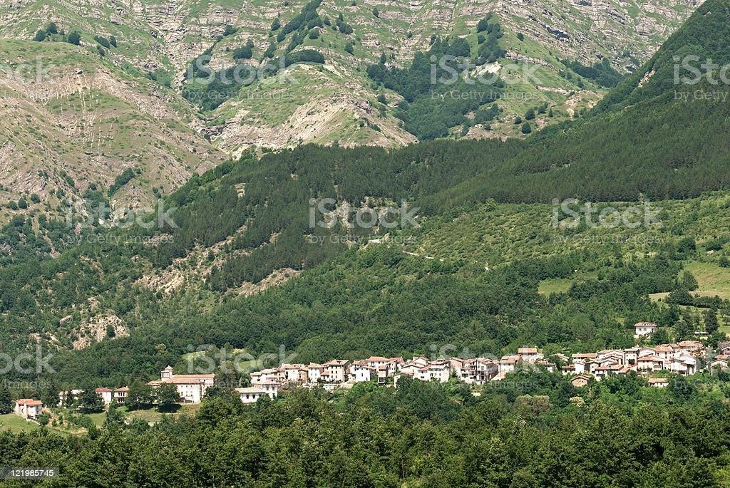 Landscape near Amatrice (Lazio, Italy) stock photo