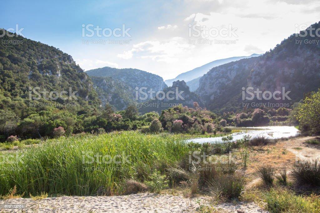 Landscape near Cala Luna, Sardinia, Italy stock photo