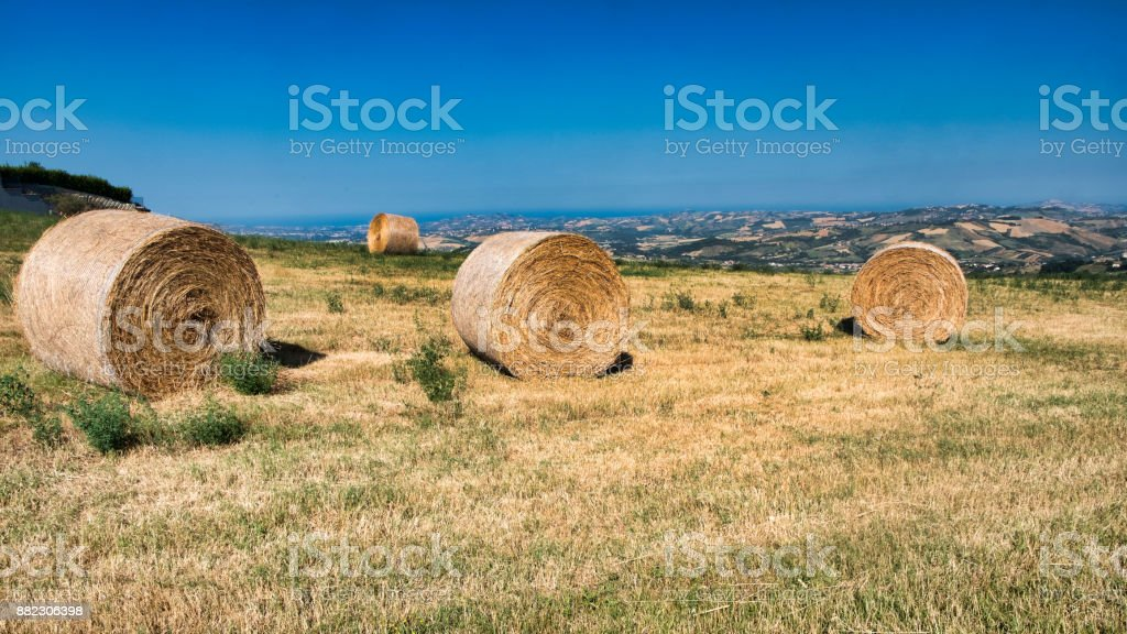 Landscape near Civitella del Tronto (Abruzzi) at summer stock photo