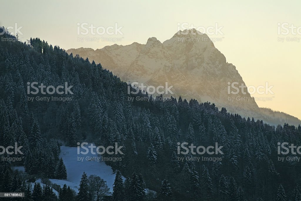 Landscape near Garmisch-Partenkirchen. Bavaria. Germany stock photo