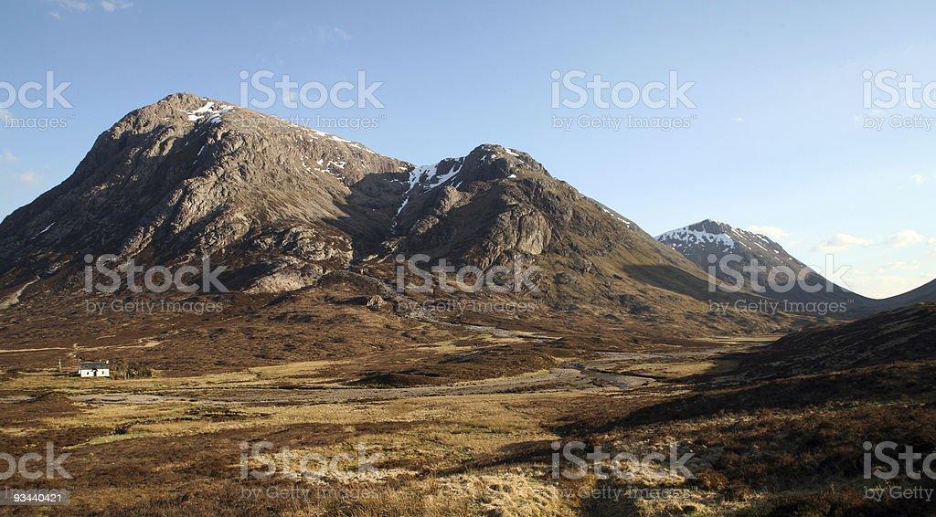 Landschaft in der Nähe von Glen Coe und dem West Highland Way, Schottland Lizenzfreies stock-foto