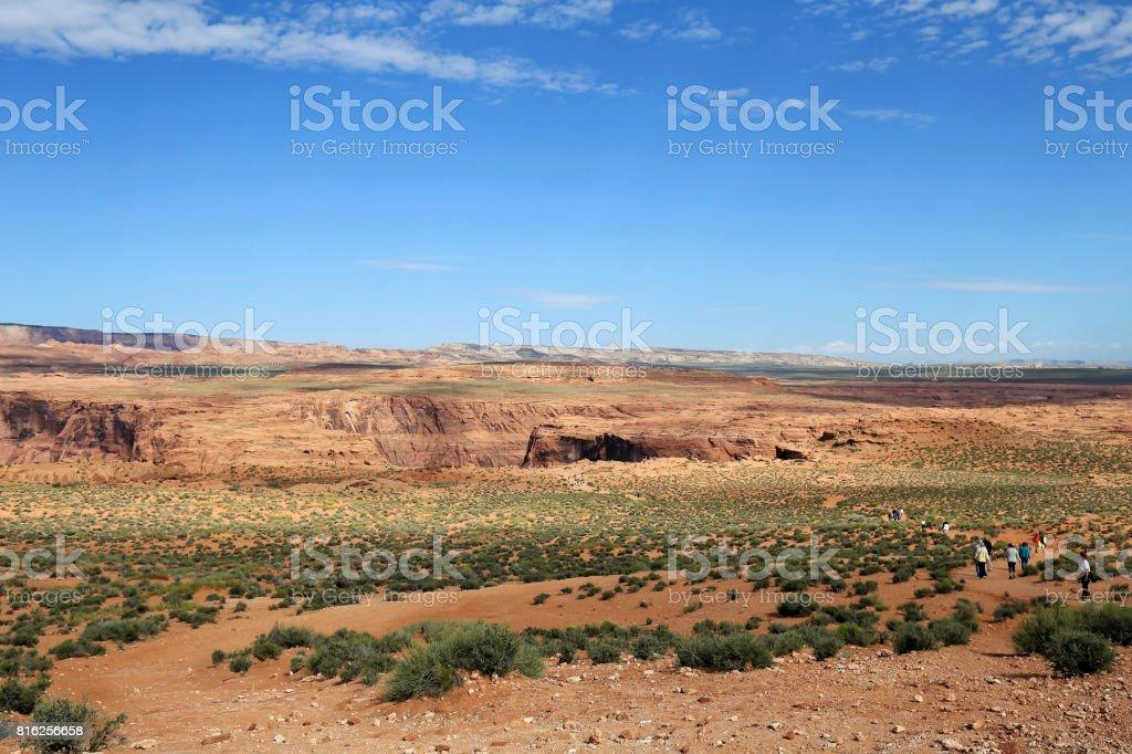 Landscape near Horseshoe bend stock photo