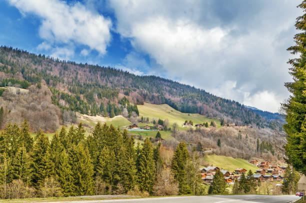 Landschaft in der Nähe von Le Grand-Bornand, Frankreich – Foto
