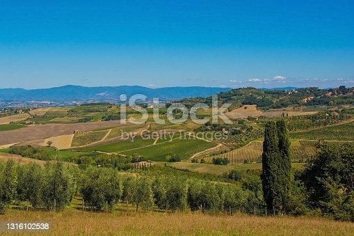 istock Landscape Near Pienza in Tuscany 1316102538
