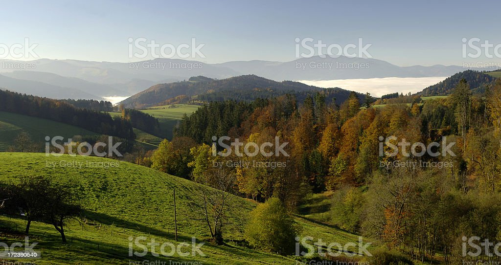 Landscape near St. Märgen, Black Forest stock photo
