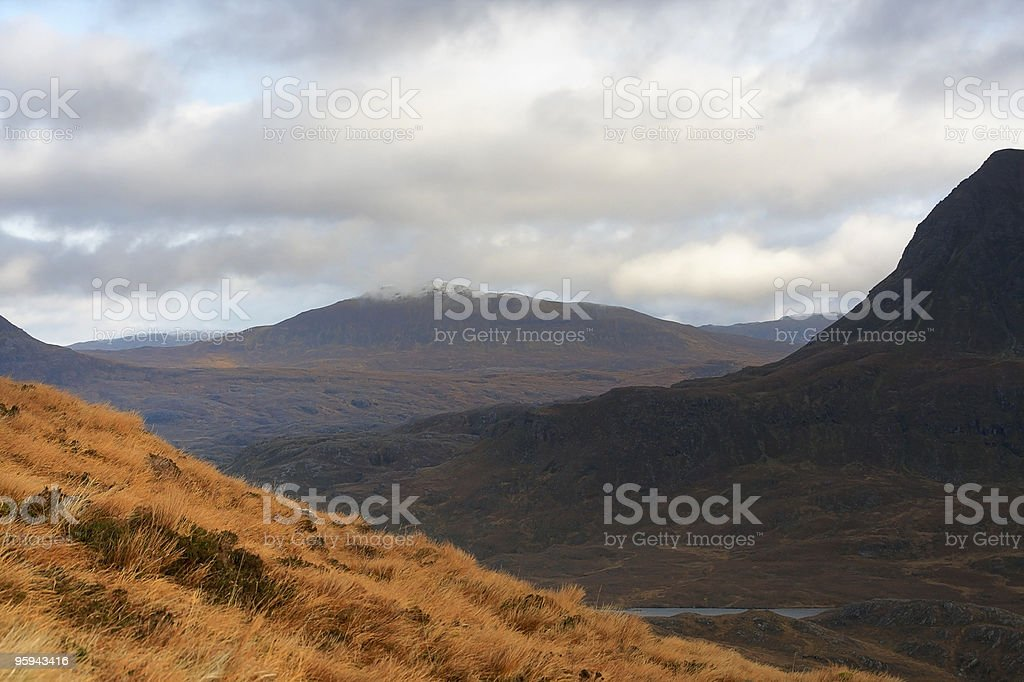 landscape near Stac Pollaidh at evening time royalty-free stock photo