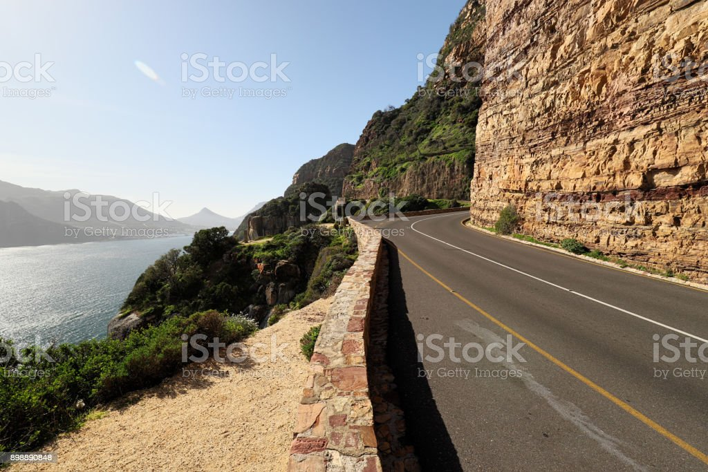 Landscape near the coast at Cape of Good Hope, South Africa stock photo