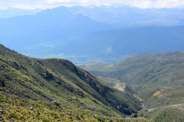 Landscape near the Colca canyon stock photo