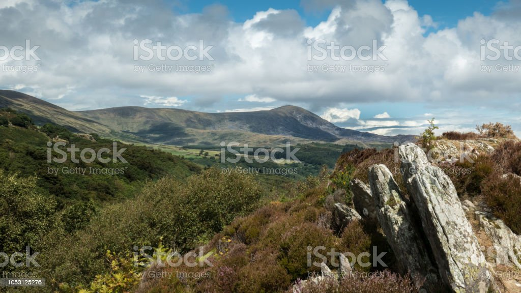 landscape north east of Barmouth (Snowdonia, Wales, United Kingdom) stock photo