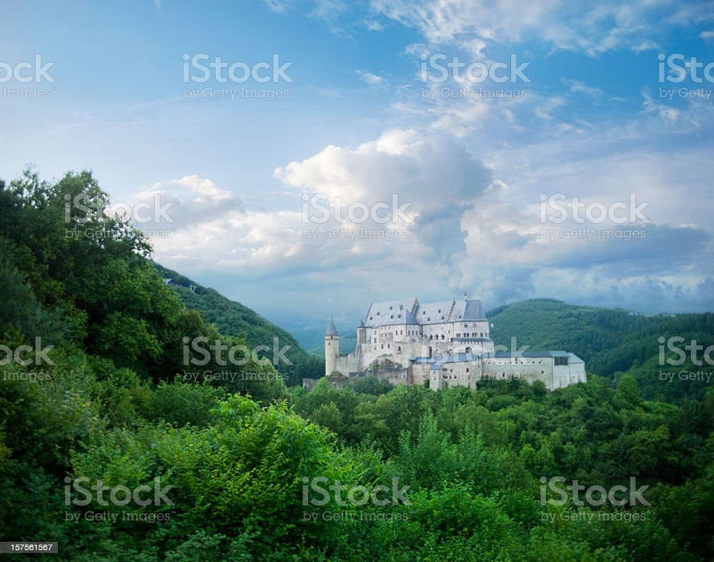Landscape of a beautiful castle royalty-free stock photo