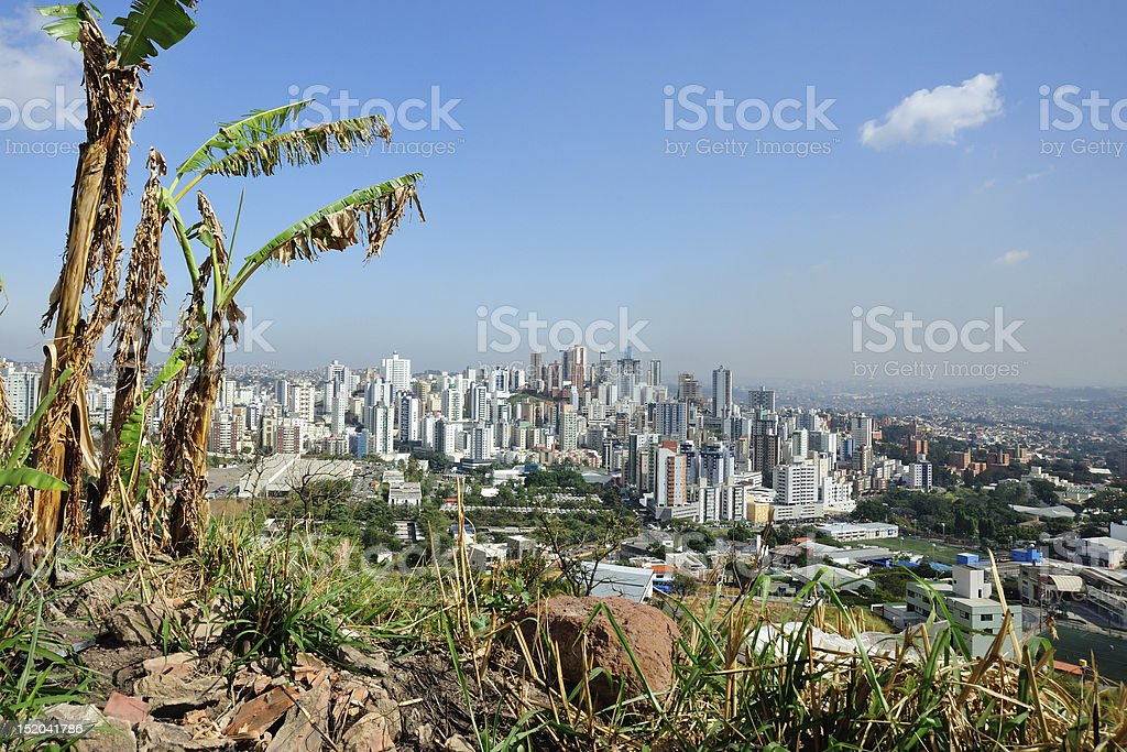 A landscape of a Brazilian city quarter stock photo
