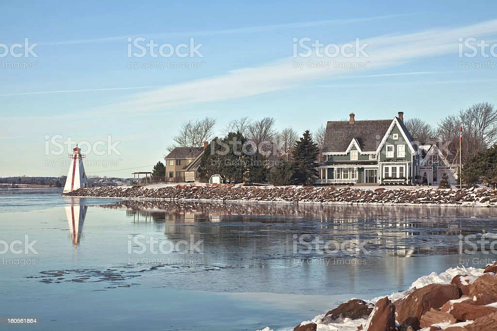 Landscape of a house on the Charlottetown waterfront stock photo