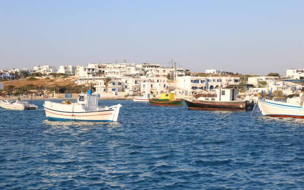 landscape of Ano Koufonisi island Cyclades Greece stock photo