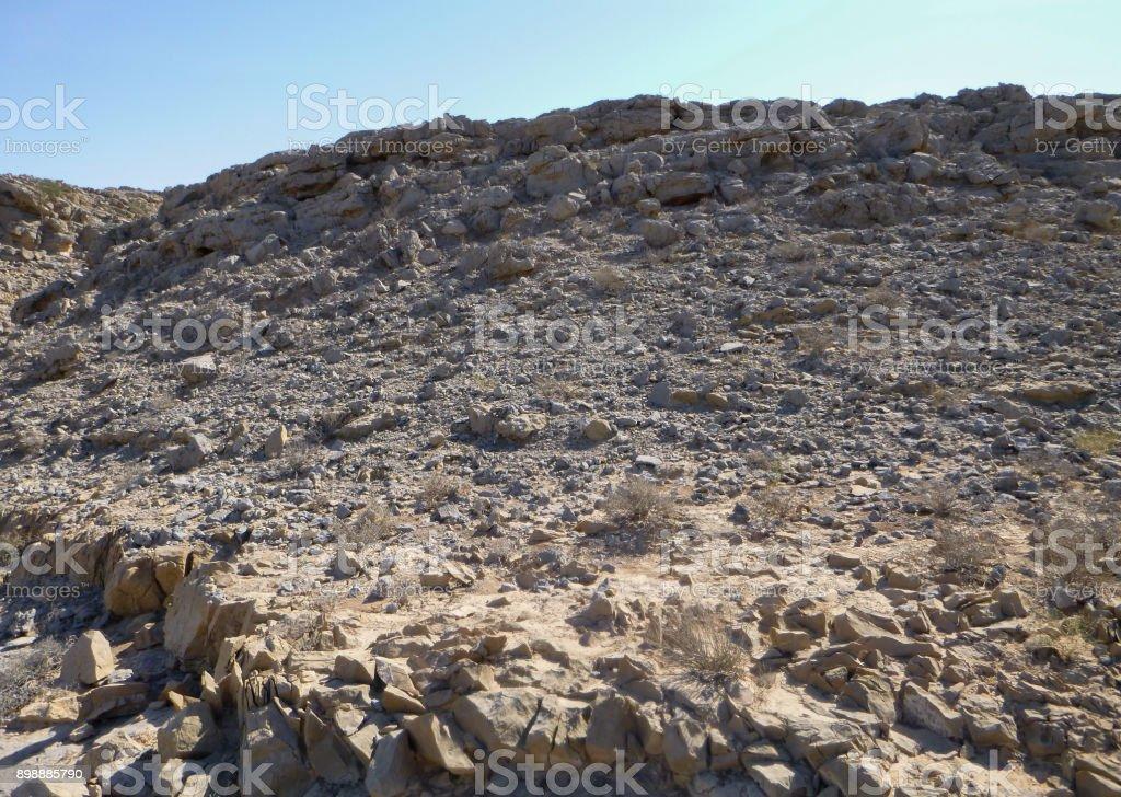 Landscape of Arabian Peninsula. United Arab Emirates. Hajar mountains stock photo