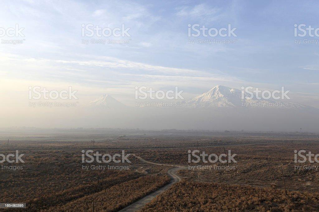 Landscape of Ararat mount royalty-free stock photo