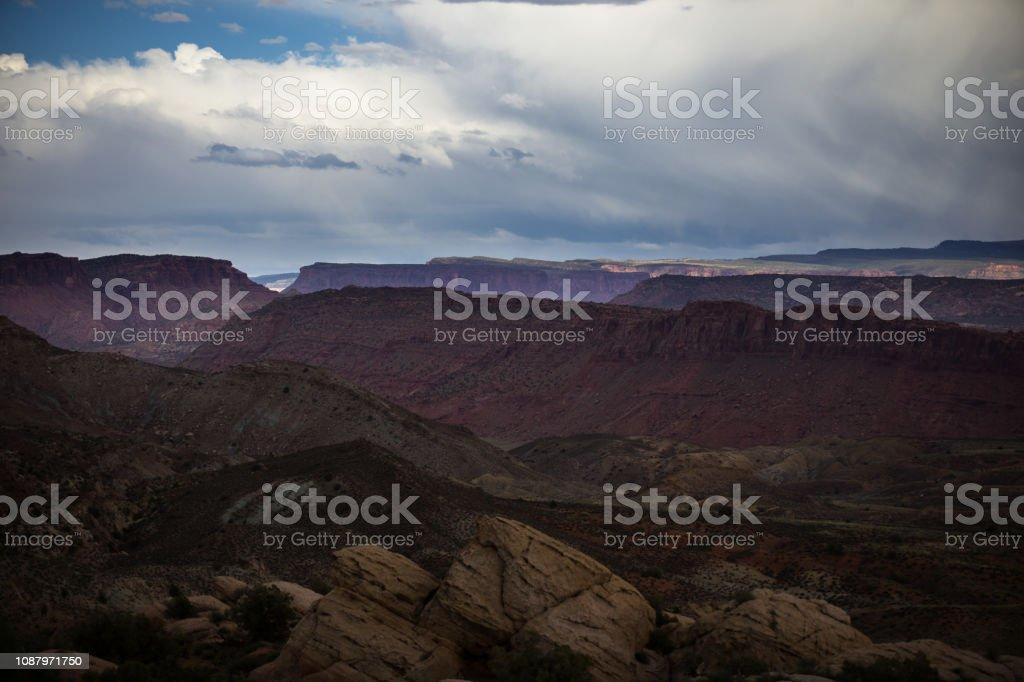 Landscape of Arches National Park stock photo