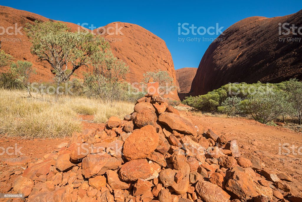 Landscape of Australia outback. stock photo