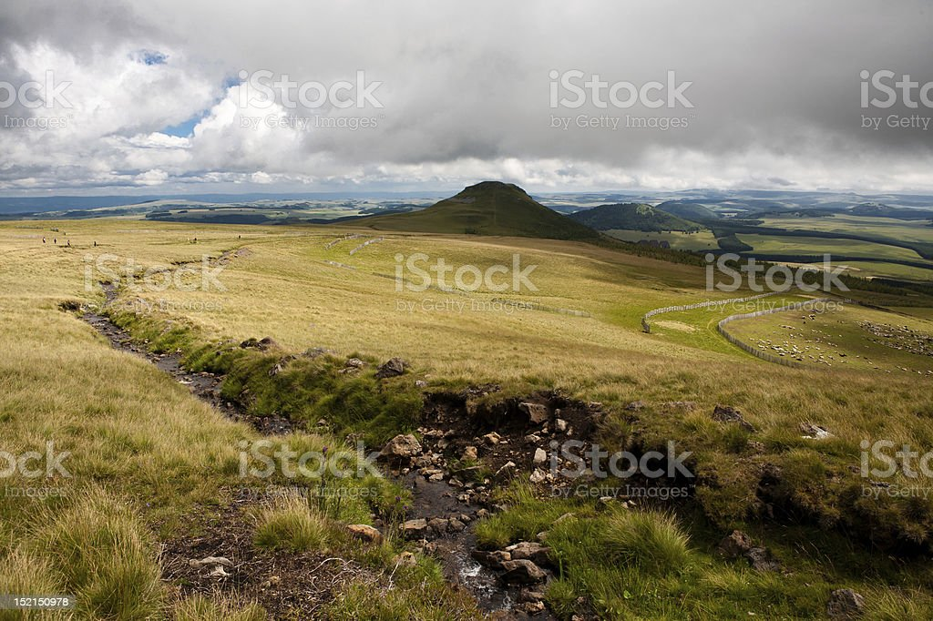 Landscape of Auvergne stock photo