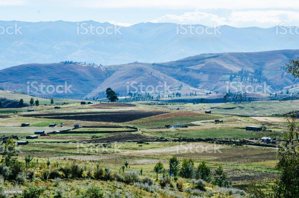 Landscape of Ayacucho stock photo