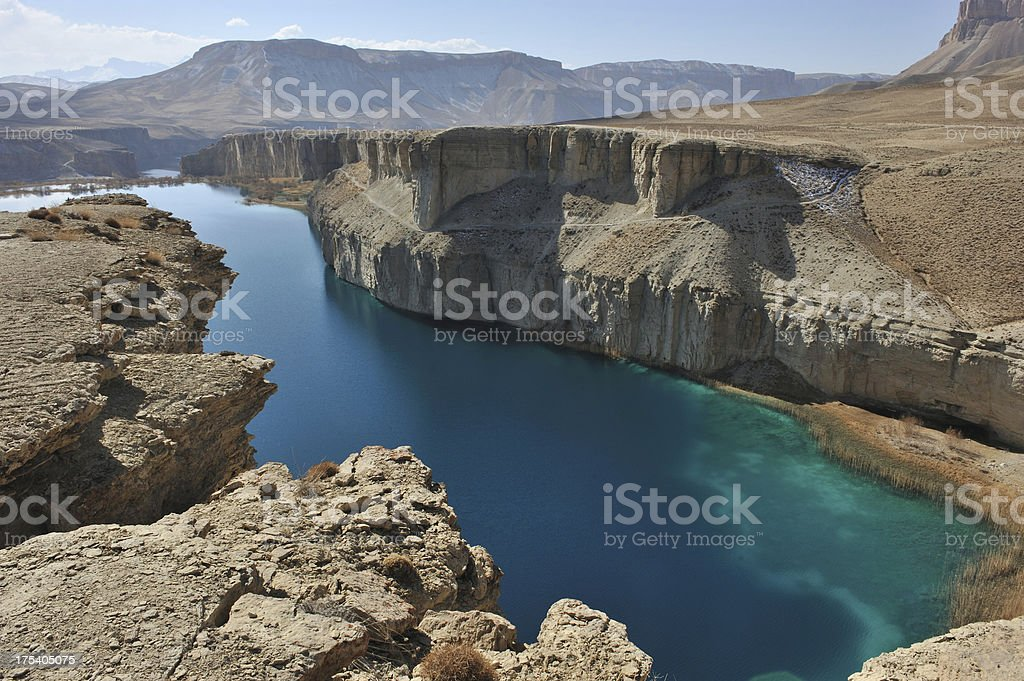 Landscape of Band-e-Amir lakes, Afghanistan stock photo