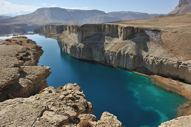 Landscape of Band-e-Amir lakes, Afghanistan
