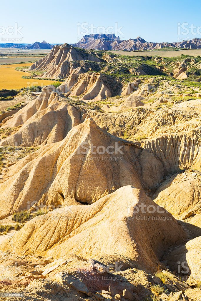 landscape of bardenas reales natural park stock photo