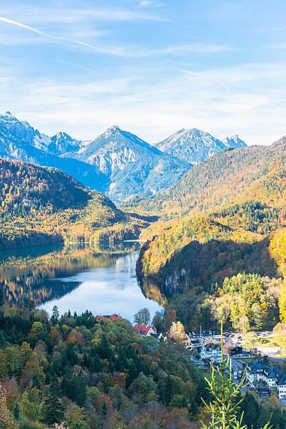 landschaft der bayerischen alpen, in deutschland - hochkönig stock-fotos und bilder