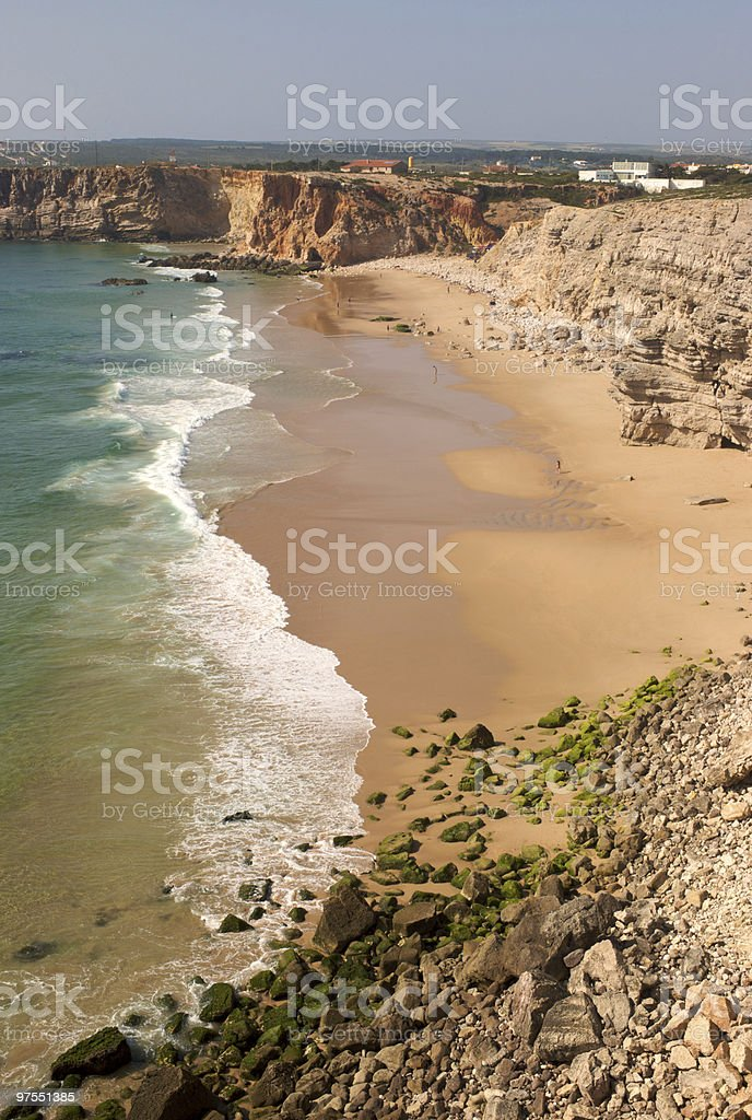 Landscape of beach in Algarve, Portugal royalty-free stock photo