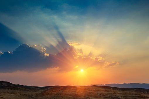 Güzel Gün Batımı Peyzaj Çölde Sina Yarımadası Stok Fotoğraflar & Afrika'nin Daha Fazla Resimleri