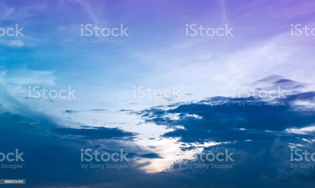 Landscape of beauty sky with cloudy, serenity nature background. stock photo