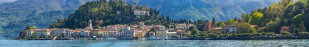 landschap van bellagio - lecco lombardije stockfoto's en -beelden