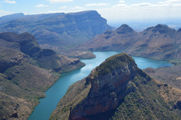 Landscape of Blyde River Canyon stock photo