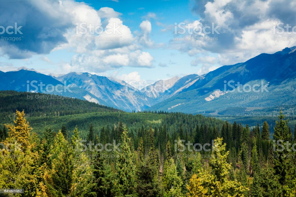 Landscape of British Columbia, Canada stock photo
